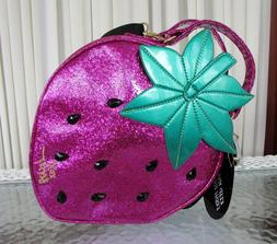 Betsey Johnson Strawberry Large Insulated Lunch Tote Bag Cro